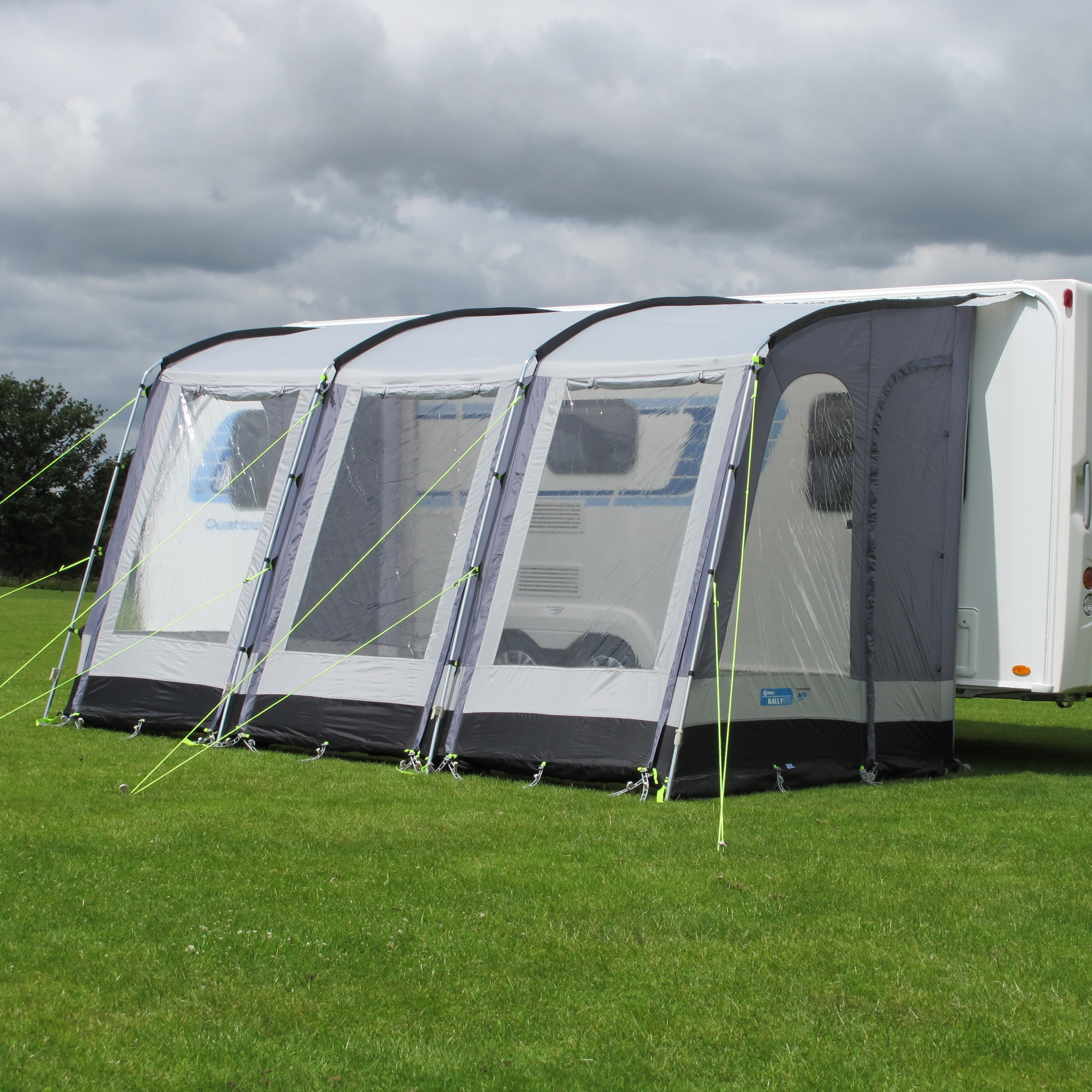 Kampa Rally 390 Caravan Porch Awning Pearl Grey Aztec